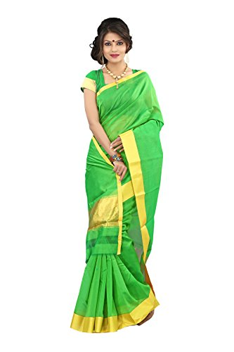 Mimosa Cotton Silk Saree (Mp-Dstisse-Pgreen _Parrot Green)