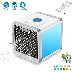 Mini portable refroidisseur d'air, espace personnel portable climatiseur mobile Portable mini USB ventilateur de bureau humidificateur pour bureau accueil voyage en plein air