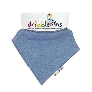 DribbleOns Bib - 0-24 Months, Denim