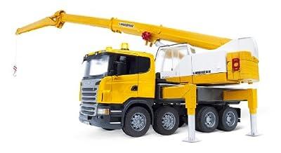 Bruder 3570 - Scania - Camión Liebherr con grúa (luz y sonido) por Bruder