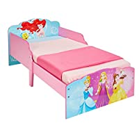 Hello Home Disney Princess Toddler Bed, Wood, Pink