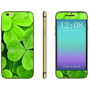Protective and Decorative Full Body Sticker Green Leaf Pattern Design Phone Decal Skin for iPhone 6 - 4.7 inches