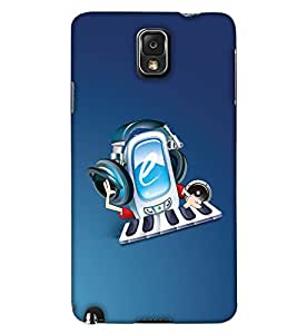 PrintHaat Hard Polycarbonate Designer Back Case Cover for Samsung Galaxy Note 3 :: Samsung Galaxy Note III :: Samsung Galaxy Note 3 N9002 :: Samsung Galaxy Note N9000 N9005 (music lover :: music is my life :: Musical design :: fun :: masti :: enjoyment :: party :: Melody design :: Music rock design :: happiness)