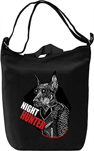 Night Hunter Leinwand Tagestasche Canvas Day Bag  100% Premium Cotton Canvas  DTG Printing  (Nite Hunter)