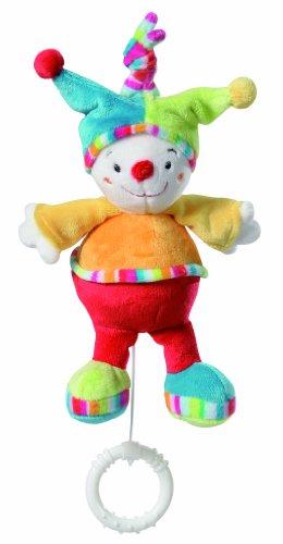 Fehn 152050 Mini-Spieluhr Clown/Kuscheltier mit integriertem Spielwerk mit sanfter Melodie zum Aufhängen an Kinderwagen, Babyschale oder Bett, für Babys und Kleinkinder ab 0+ Monaten
