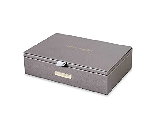 Katie Loxton – Schmuck Box – Sparkle Everyday – Metallic Charcoal (Charcoal Fertig)