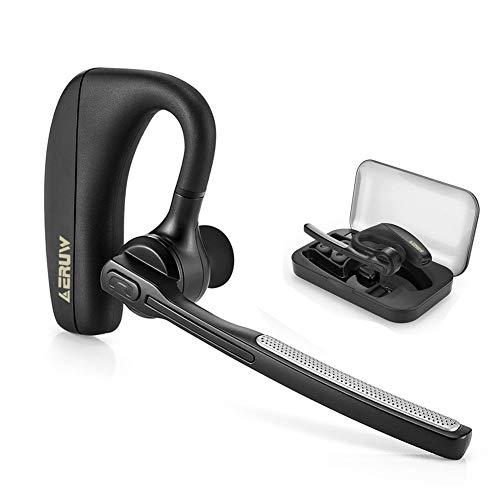 Oreillette Bluetooth, Oreillette Bluetooth sans Fil V4.1 Kit Main Libre Bluetooth Écouteurs avec réduction du Bruit, Casques d'écoute Mains Libres avec Micro pour Office/Business/Trucker