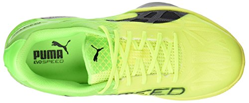 Puma Unisex Adults  Evospeed Indoor 1 5 Football Boots   Safety Yellow Black-Green Gecko-Quarry 03   3 UK