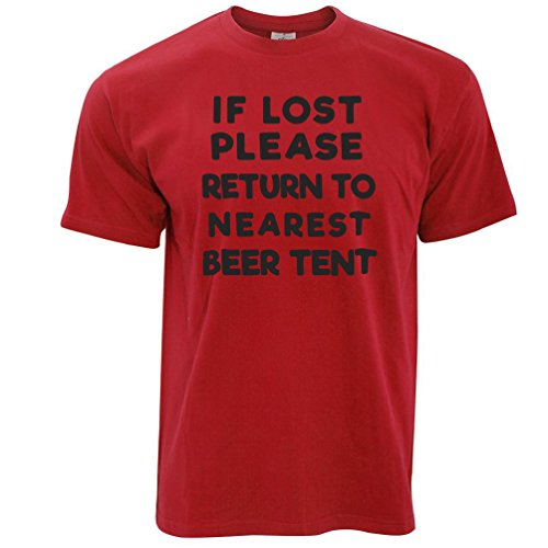 Wenn verloren Return To Bierzelt Festival Sommer Trinken Party Herren T-Shirt Red