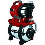 Einhell RG-WW 1139 N Hauswasserwerk, 1100 Watt, 4100 l/h Fördermenge, 20 l Edelstahl-Behälter, Edelstahl-Anschlüsse, Manometer