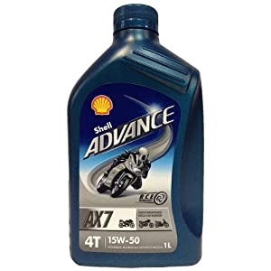 Shell 1504001 advance aX7 moteur 4 temps 15–50, 1 l