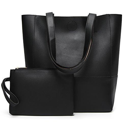 DCCN Damen Handtaschen Shopper PU Leder Messenger Bags Einkaufstasche mit EIN klein Beutel Geldbörse