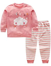 Hzjundasi Bebé Chicos Chicas Niños Algodón Manga larga Conjunto de pijamas Children Toddler 2 piezas Ropa