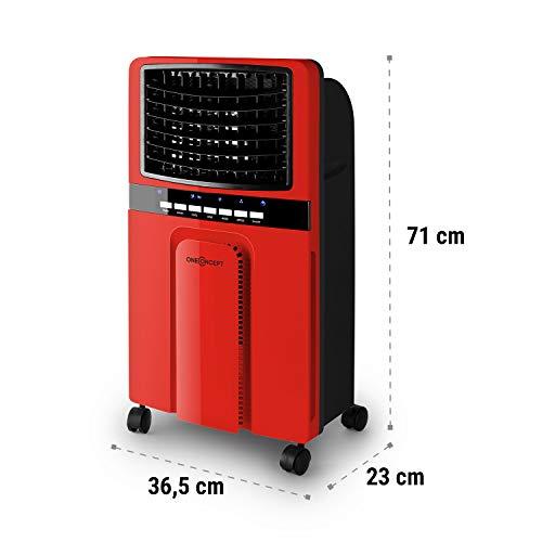 OneConcept Baltic Red 2019 Edition - Enfriador de aire, Bajo consumo, Funcion refrigerador, Purificador...