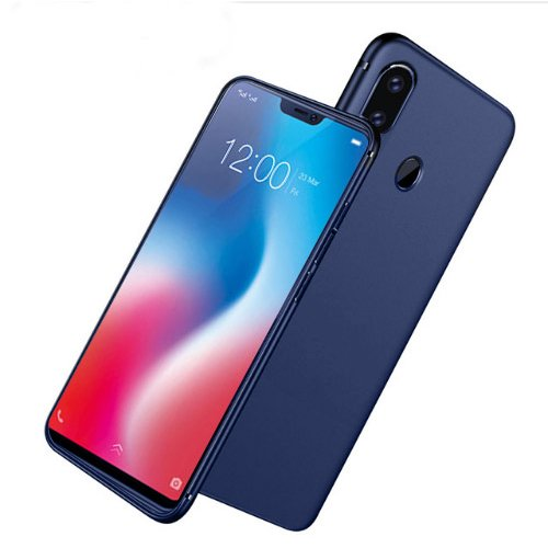 Digiprints Sleek Matte Rubberized Back Case Cover For Vivo V9 Black With All Sides Protection