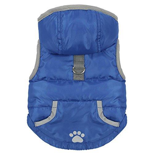 Pecute Vestiti per Cani Dog Vest Felpa con Cappuccio Invernale