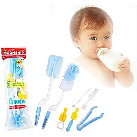 iLifeTech bambino Rotary Bottiglia Spinning e capezzolo Brush Set Baby Kit bottiglia