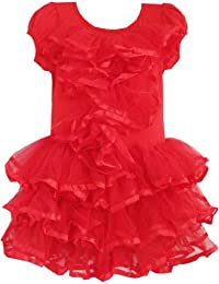 Girls Dress Red Tulle Tutu Dancing Party Kids Boutique Size 2-6 Years