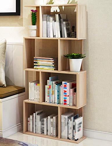 Bücherregal Steh Lagerschränke Einfache Multi-Layer-freie Kombination Bücherregal Schindel Rack Multifunktions-Display-Ständer Bücherregale (Farbe Optional, 60 * 24 * 134cm) (Farbe: Weiß Ahorn) -