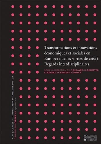 Transformations et innovations économiques et soc...