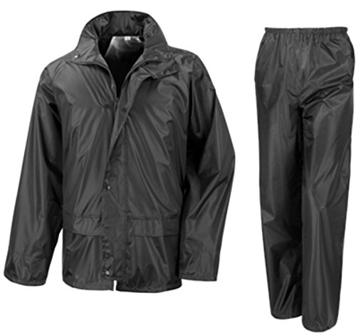 Wetplay Waterproof Motorcycle Motorbike Over Jacket Trousers 2-Piece Suit, Black or Navy Blue Adults Mens Ladies Unisex…