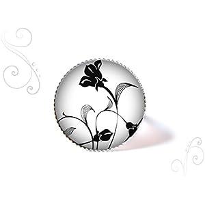 Ring mit cabochon ° Schwarze Blume °
