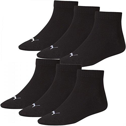 6 Paar unisex PUMA - Socken Quarter Socke für Sport - Freizeit - Arbeit 35 - 49, Grösse:35-38;Farbe:schwarz -