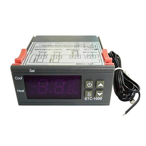 Preisvergleich Produktbild Unitedheart Mini-Temperaturregler,  Schwarz Digital STC-1000 Mehrzweck-Temperaturregler Thermostat mit Sensor Temperatur Instrument Diagnose-Tool