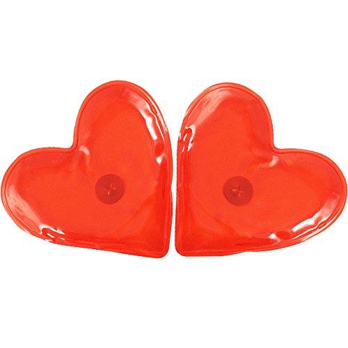COM-FOUR® 2x Taschenwärmer Handwärmer - ideal für kalte Tage (Herz transparent - 2 Stück)