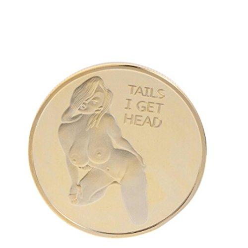 Preisvergleich Produktbild Dinglong Erwachsene Spiel Währung Hit Glück Baby Valentinstag Geschenk Gedenkmünze Abzeichen Gold
