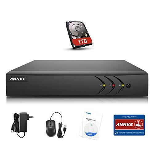Security Digital Video Recorder (ANNKE 8CH DVR Recorder CCTV TVI 4 IN 1 Videoüberwachung 1080N Netzwerk Digital Video Recorder H.264+ für Videoüberwachung Aufzeichnungsgerät Bewegungserkennung Fernüberwachung mit 1TB überwachung Festplatte)