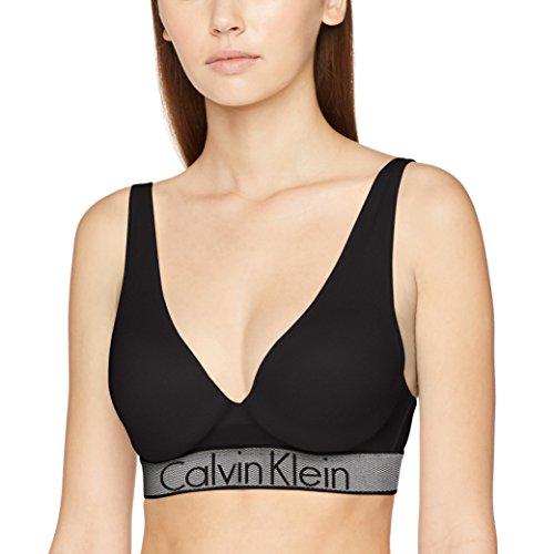 Calvin Klein Damen BH Plunge Push UP, Schwarz (Black 001), 75B (Herstellergröße: 0B34) (Plunge-push-up-bh)