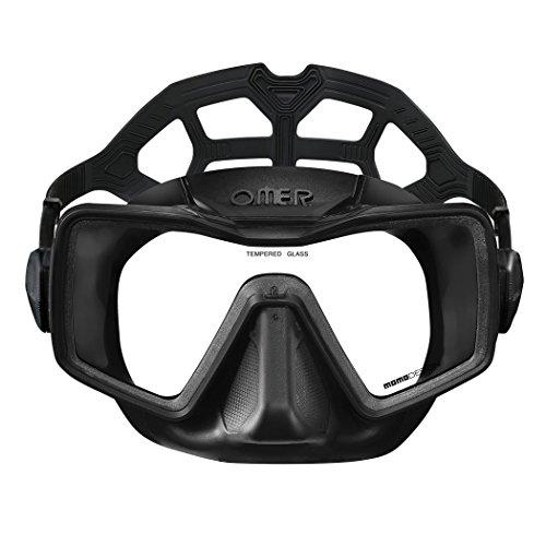 Omer sub - Masque de plongée Apnea monovitre noir