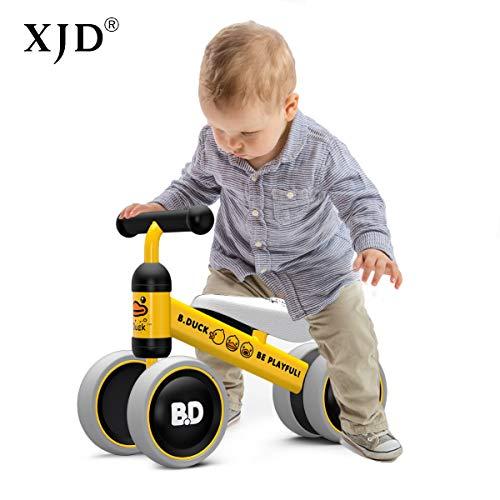 XJD Kinder Laufrad Lauflernrad Balance Bike Geburtstagsgeschenk für 10-24 Monate Jungen Mädchen Baby