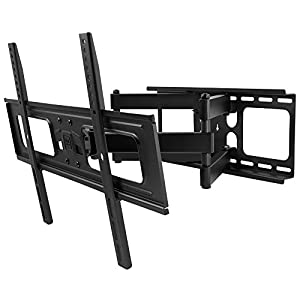 One For All Full Motion TV Bracket – Swivel (120°) Tilt (15°) Wall Mount – Screen size 32-84 Inch - For All types of TVs – Max Weight 60kg – VESA 200x200 to 600x400 - Free Toolbox app – Black - WM4451