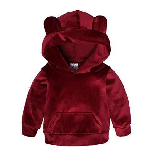 Yying Kinder Kleidung Jungen Sets Winter Weihnachten Kinder Kleidung Kleinkind Mädchen Jungen Kleidung Sets Baumwolle Mädchen Sport Anzüge Rot 80 -