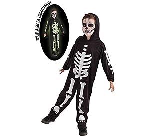 Rubies Disfraz Infantil - Esqueleto Brilla en la Oscuridad 8-10 años