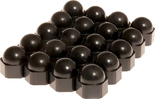 Radmuttern-Kappen 20 Stück Schwarz 19 mm