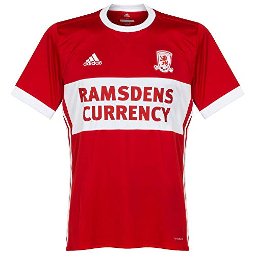 adidas 2017 2018 Middlesbrough Home Football Soccer T Shirt Camiseta