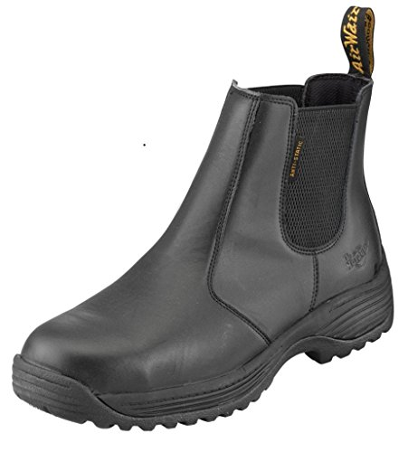 Dr Martens Mens Cottam Leather Work Safety Dealer Boots Black Black