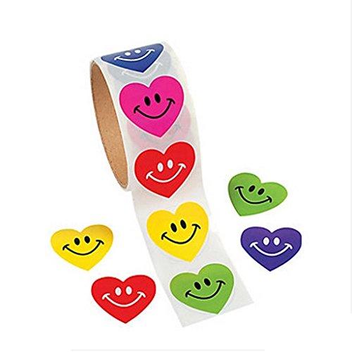 Hellery 2 Rolle/ 200 Stück Papier Aufkleber Flaschenetiketten Aufkleber Flaschen Sticker mit Herz Design - 2 Stück Schüler-schreibtisch