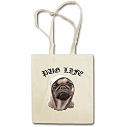 PUG LIFE I HIPSTER BAG - doguillo carlino Hip Hop Ghetto Life Gangster OG Criminal Rap Mobster