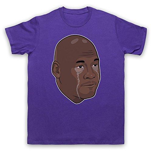 Inspiriert durch Crying Jordan Michael Jordan Face Meme Inoffiziell Herren T-Shirt Violett