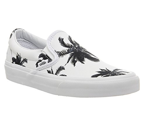 Vans U Classic Slip-on Overwashed, Unisex-Erwachsene Sneakers Palm Print White