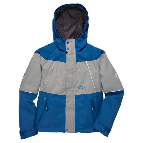 Jack Wolfskin Jungen Wetterschutzjacke Boys Emerald Jacket Active Blue, 128