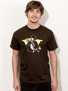 T-Shirt Indiana Jones Harrison Ford Film Kult Shirt E46 brown Size:S