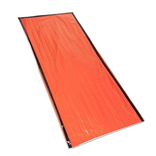 Terra Hiker Emergency Blanket, Reusable Thermal Survival Bag, Pocket-Sized PE in Orange
