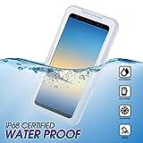 Wendapai wasserdicht Telefon Hülle Heavy-Duty Tragetasche Fully Sealed Watertightness Hülle zum Samsung Galaxy Note 9 Waterproof,-White
