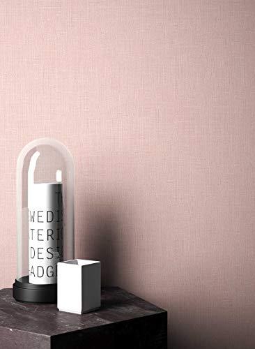 NEWROOM Blumentapete Tapete rosa Unifarbe Struktur Uni Vliestapete Vlies moderne Design Optik Tapete...