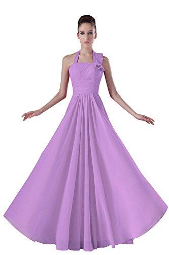 Bridal_Mall -  Vestito  - linea ad a - Senza maniche  - Donna Lilac